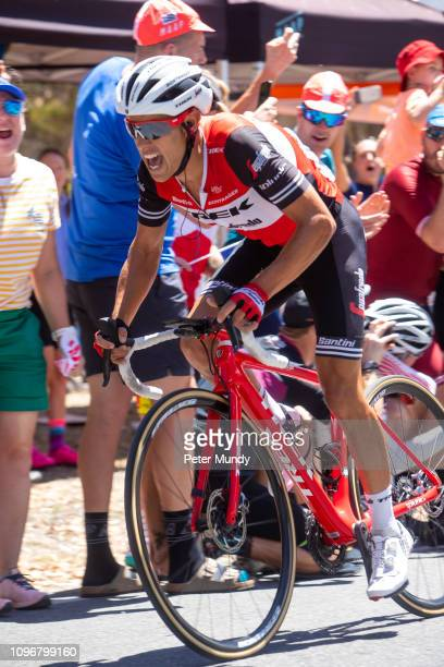 ADELAIDE AUSTRALIA JANUARY 20 Richie Porte of Australia and TrekSegafredo was first up Old Willunga Hill climb final lap during Stage 6 from McLaren...