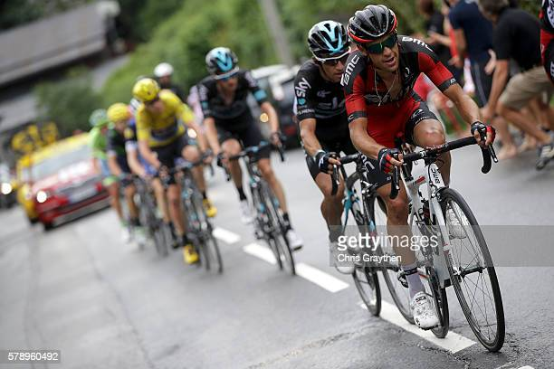 Richie Porte of Australia riding for BMC Racing Team rides in the peloton during stage ninteen of the 2016 Le Tour de France, a 146km stage from...