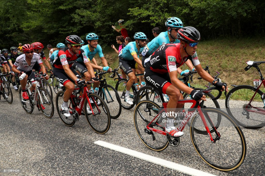 Richie Porte of Australia riding for BMC Racing Team rides in the peloton during stage 9 of the 2017 Le Tour de France, a 181.5km stage from Nantua to Chambéry on July 9, 2017 in Chambery, France.