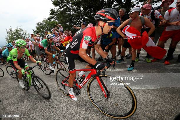 Richie Porte of Australia riding for BMC Racing Team rides up Mont du Chat during stage 9 of the 2017 Le Tour de France a 1815km stage from Nantua to...