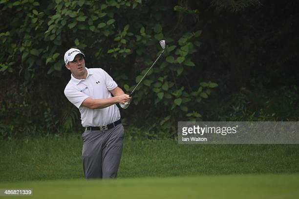 Richie Ramsay of Scotland during the 3rd round of the 2014 Volvo China Open at Genzon Golf Club on April 26 2014 in Shenzhen China