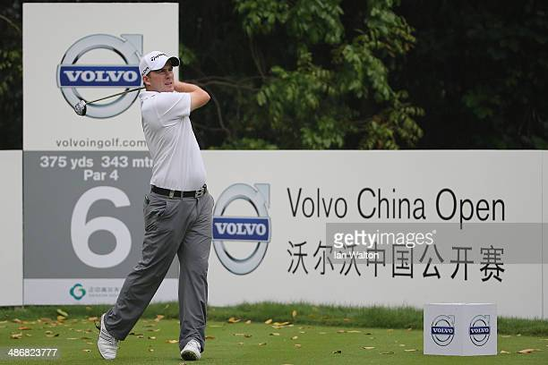 Richie Ramsay of Scotland in action during the 3rd round of the 2014 Volvo China Open at Genzon Golf Club on April 26 2014 in Shenzhen China