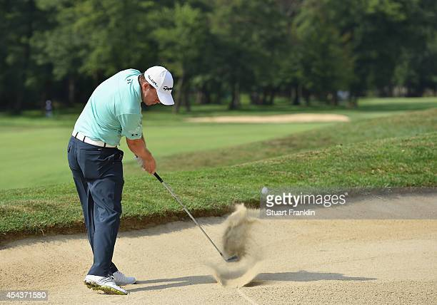 Richie Ramsay of Scotland plays a shot during the third round of the 71st Italian Open Damiani at Circolo Golf Torino on August 30 2014 in Turin Italy