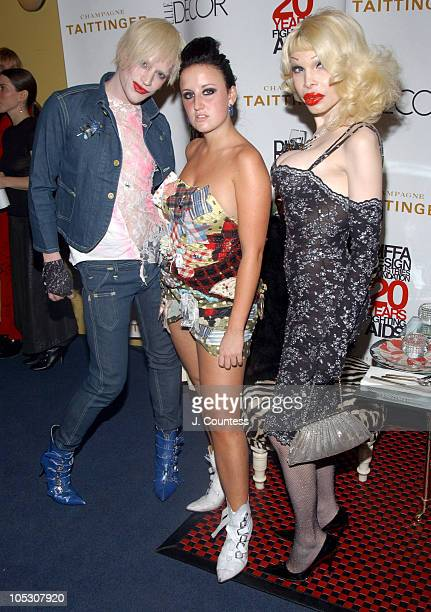 Richie Rich Aimee Phillips and Amanda Lepore during Elle Decor's Dining By Design Presented By Champagne Taittinger at Hammerstein Ballroom in New...