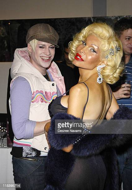 Richie Rich and Amanda Lepore during The Gastineau Girl Limited Edition Designer Doll Collection Unveiling at Sapa in New York City New York United...