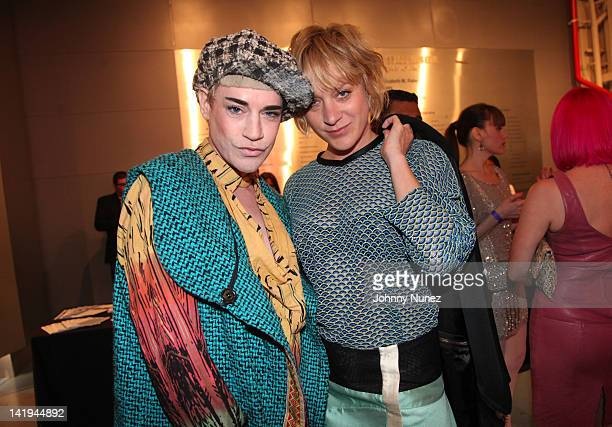 Richie Rich and Chloe Sevigny attend Jeffrey Fashion Cares 2012 at the Intrepid Aircraft Carrier on March 26 2012 in New York City