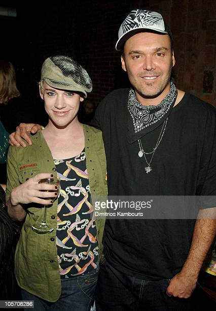 Richie Rich and David LaChapelle during The Voice of the Streets Benefit at Churrascaria Plataforma Tribeca in New York City New York United States