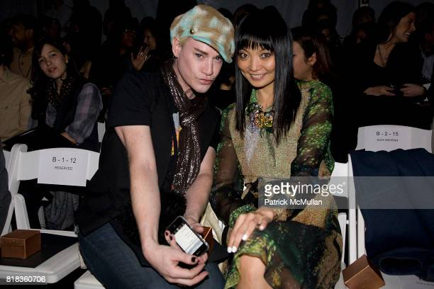 Richie Rich and Irina Pantaeva attend NICOLE MILLER Fall 2010 Collection at Bryant Park Tents on February 12 2010 in New York City