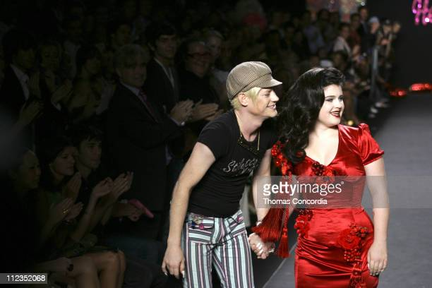 Richie Rich and Kelly Osbourne during Olympus Fashion Week Spring 2006 Heatherette Runway at Bryant Park in New York City New York United States