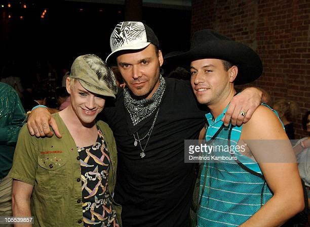 Richie Rich David LaChapelle and Traver Rains during The Voice of the Streets Benefit at Churrascaria Plataforma Tribeca in New York City New York...