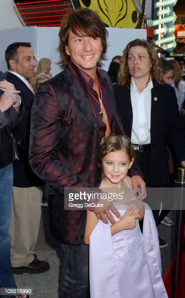 Richie Sambora and daughter Ava Elizabeth during 'The Perfect Man' Los Angeles Premiere Arrivals at Universal Studios Cinema at City Walk in...