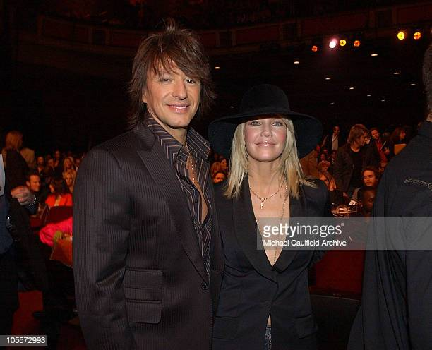 Richie Sambora and Heather Locklear during 32nd Annual American Music Awards Backstage and Audience at Shrine Auditorium in Los Angeles California...