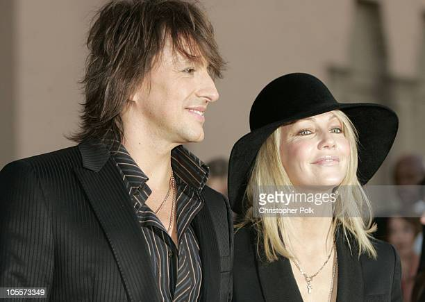 Richie Sambora and Heather Locklear during 32nd Annual American Music Awards Arrivals at Shrine Auditorium in Los Angeles California United States