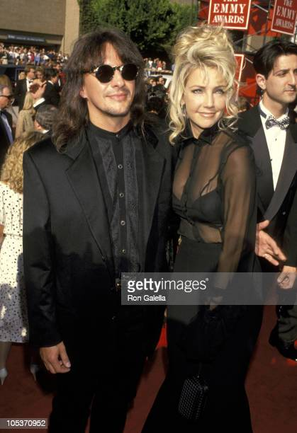 Richie Sambora and Heather Locklear during 46th Annual Primetime Emmy Awards Arrivals at Pasadena Civic Center in Pasadena California United States