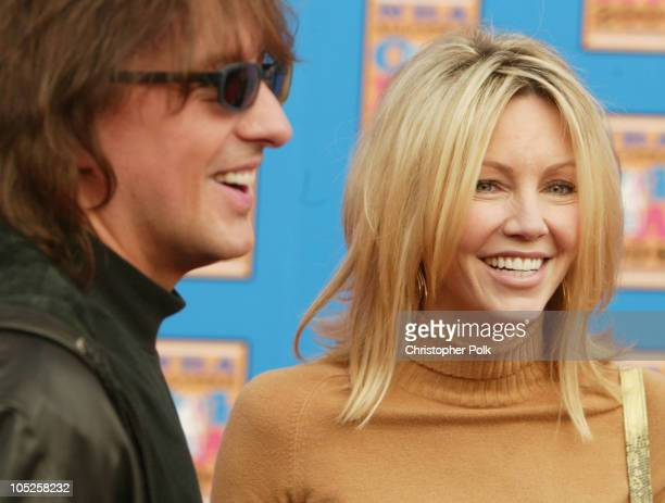 Richie Sambora and Heather Locklear during NBA AllStar Game Arrivals at Staples Center in Los Angeles California United States