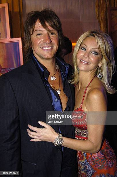 Richie Sambora and Heather Locklear during The 56th Annual Primetime Emmy Awards Trophy Room at The Shrine Auditorium in Los Angeles California...