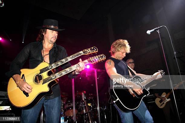 Richie Sambora and Jon Bon Jovi during Michael Strahan and New York Law Firm Dreier LLP Hold a Chartiy Event with Jon Bon Jovi at Tao July 9 2006 at...