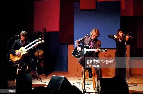 Richie Sambora and Jon Bon Jovi during Shoah Foundation Exclusive Performance at Amblin Entertainment on Universal Studios in Universal City...