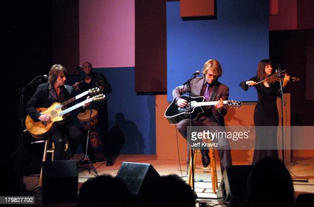 Richie Sambora and Jon Bon Jovi during Shoah Foundation Exclusive Performance at Amblin Entertainment on Universal Studios in Universal City...