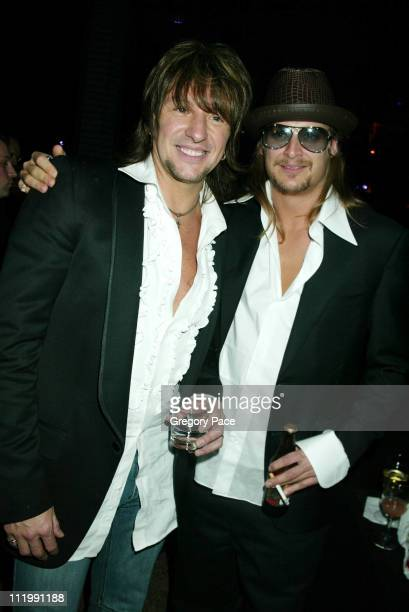 Richie Sambora and Kid Rock during 2003 Clive Davis PreGRAMMY Party at The Regent Wall Street in New York NY United States