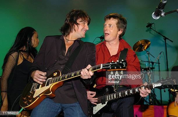 Richie Sambora and Michael J Fox during 'A Funny Thing Happened on the Way to Cure Parkinson's' A Benefit Evening for the Michael J Fox Foundation...