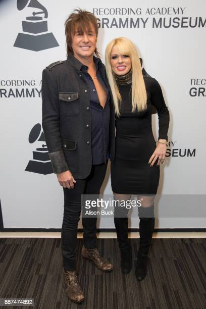 Richie Sambora and Orianthi attend The Drop RSO Richie Sambora Orianthi at The GRAMMY Museum on December 6 2017 in Los Angeles California