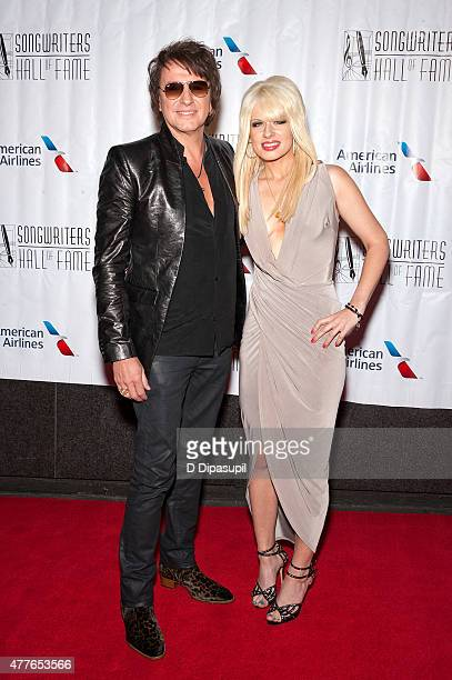 Richie Sambora and Orianthi Panagaris attend the Songwriters Hall of Fame 46th Annual Induction and Awards at the Marriott Marquis Hotel on June 18...