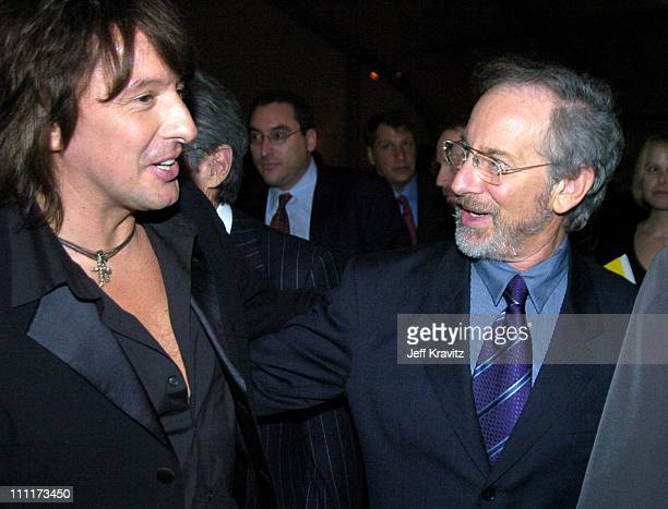 Richie Sambora and Steven Spielberg during Shoah Foundation Exclusive Event at Amblin Entertainment on Universal Studios in Universal City California...