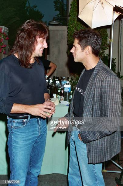 Richie Sambora and Thomas Calabro during 1995 Melrose Party Celebrating 100th Episode in Los Angeles CA United States