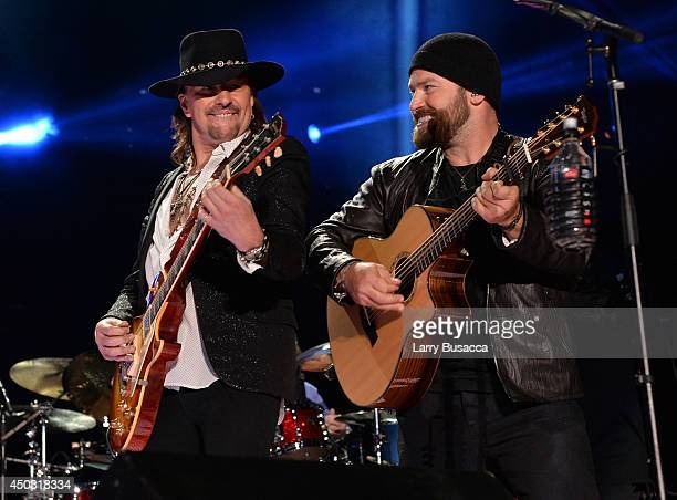 Richie Sambora and Zac Brown of the Zac Brown Band perform onstage at the 2014 CMA Festival on June 8 2014 in Nashville Tennessee