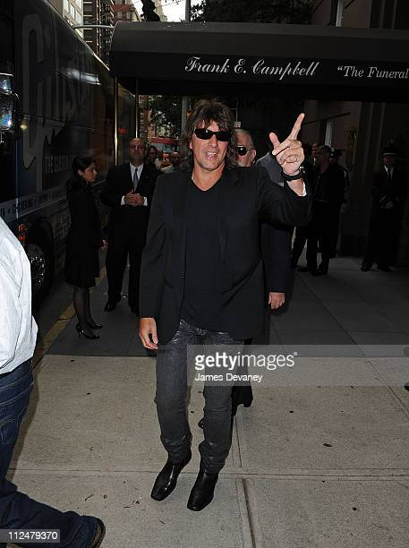 Richie Sambora attends Les Paul's funeral at the Frank E Campbell Funeral Chapel on August 19 2009 in New York City