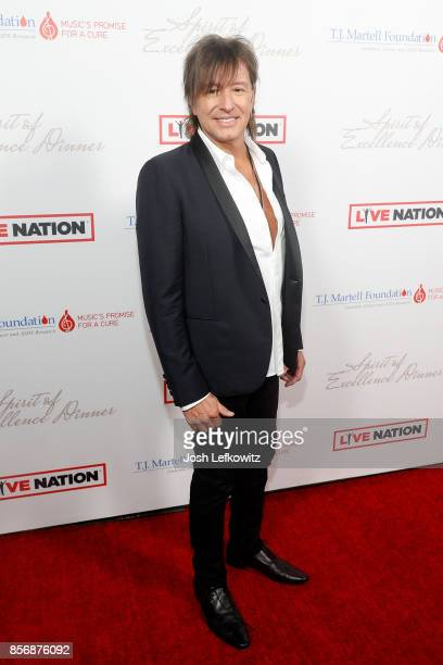 Richie Sambora attends the TJ Martell Foundation's Spirit of Excellence dinner at the Luxe Sunset Boulevard Hotel on October 2 2017 in Beverly Hills...