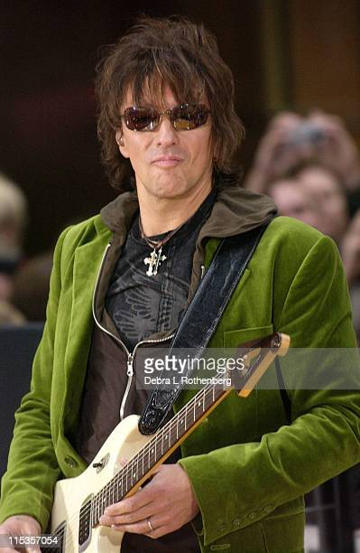Richie Sambora during 'Today' Show 2004 Concert Series Bon Jovi at Rockefeller Plaza in New York City New York United States