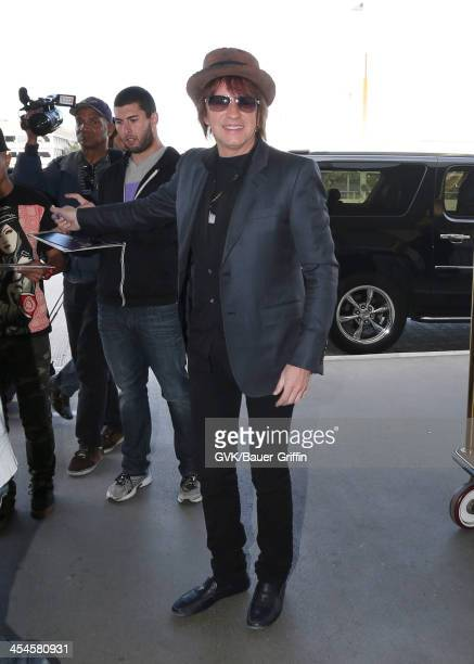 Richie Sambora is seen arriving at LAX airport on December 09 2013 in Los Angeles California