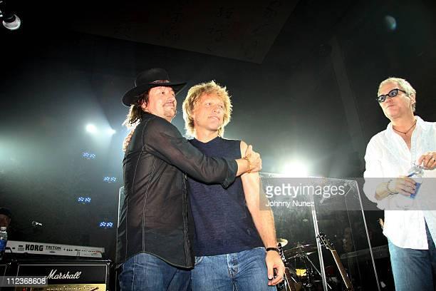 Richie Sambora Jon Bon Jovi during Michael Strahan and New York Law Firm Dreier LLP Hold a Chartiy Event with Jon Bon Jovi at Tao July 9 2006 at Tao...