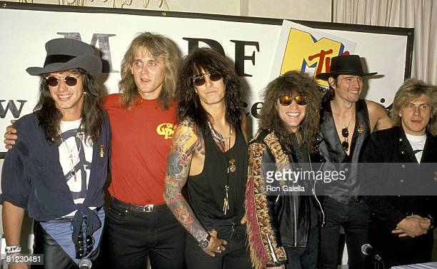 Richie Sambora Jon Bon Jovi Tommy Lee of Motley Crue Scorpions and Gorky Park
