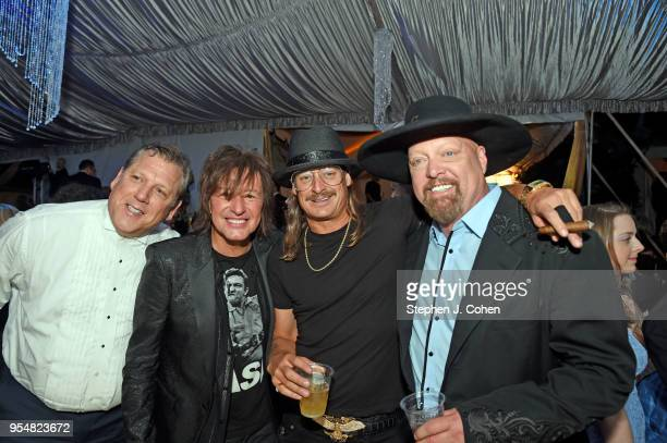 Richie Sambora Kid Rock and Eddie Montgomery attend the 2018 Barnstable Brown Kentucky Derby Eve Gala on May 4 2018 in Louisville Kentucky