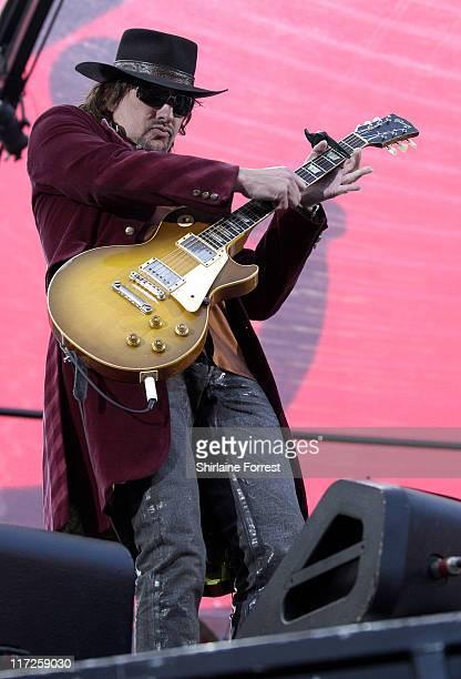 Richie Sambora of Bon Jovi during Bon Jovi in Concert in Manchester June 4 2006 at City of Manchester Stadium in Manchester United Kingdom