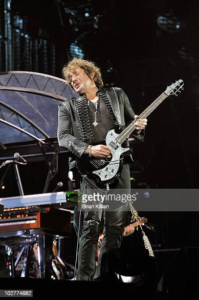 Richie Sambora of Bon Jovi performs at the New Meadowlands Stadium on July 9, 2010 in East Rutherford, New Jersey.