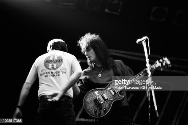 Richie Sambora of Bon Jovi performs on a TV show at Fuji Television's YorunoHit Studio Tokyo Japan 1st May 1985