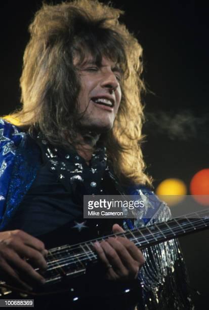 Richie Sambora of Bon Jovi performs on stage circa 1986