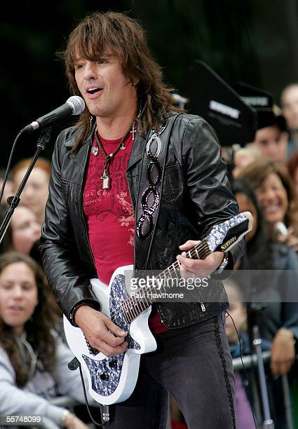 """Richie Sambora of Bon Jovi performs on stage during the Toyota Concert Series on the """"Today"""" show September 23, 2005 in New York City."""