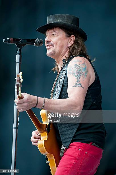 Richie Sambora performs on stage at Calling Festival at Clapham Common on June 28 2014 in London United Kingdom