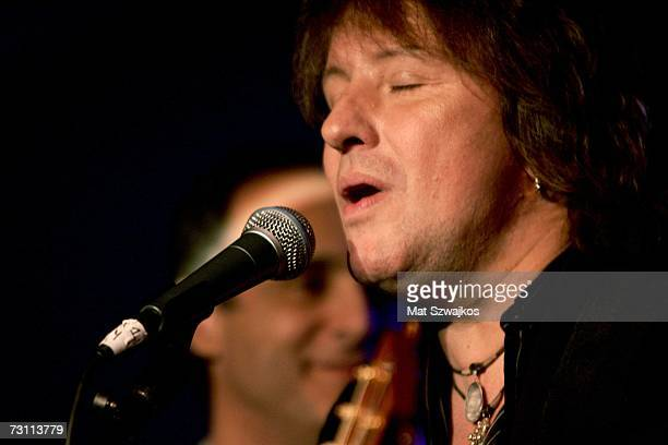 "Richie Sambora performs on stage at Kenneth Cole's ""R.S.V.P. To HELP"" benefit hosted by Kenneth Cole and Jon Bon Jovi at the Tribeca Rooftop on..."