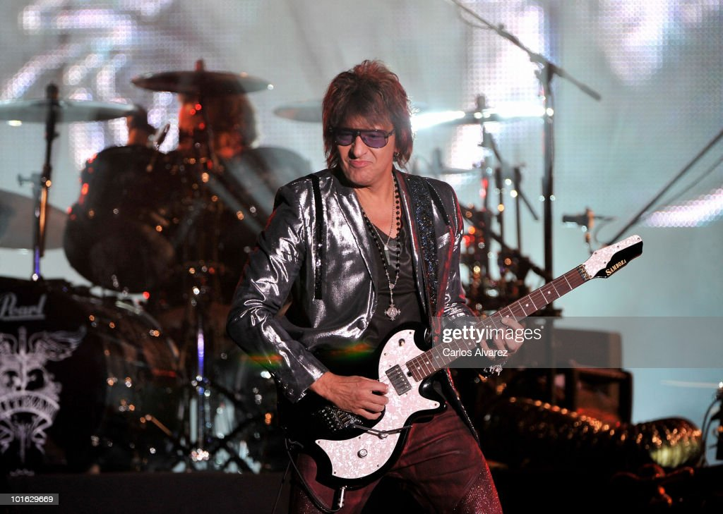 Richie Sambora performs on stage during Rock in Rio Festival on June 4, 2010 in Arganda del Rey, Spain.