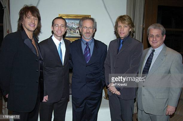 Richie Sambora Richard Lovett Steven Spielberg Jon Bon Jovi and Douglas Greenberg Shoah Foundation President and CEO *Exclusive*