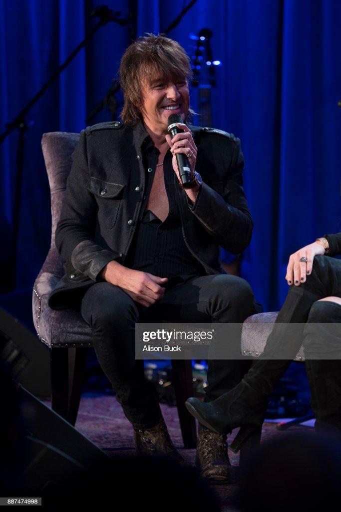 Richie Sambora speaks onstage during The Drop: