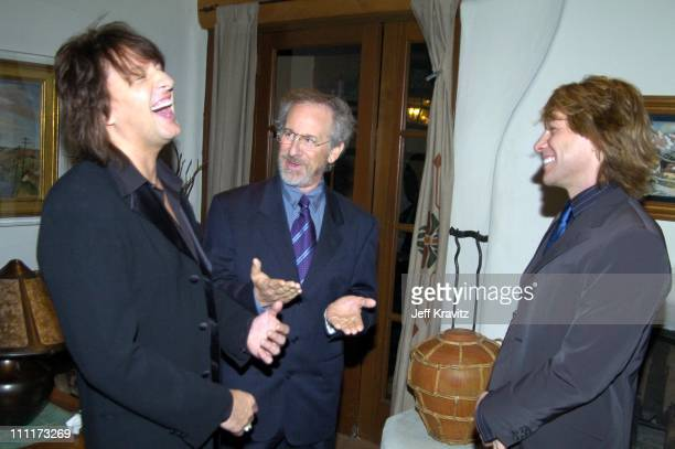 Richie Sambora Steven Spielberg and Jon Bon Jovi *Exclusive*