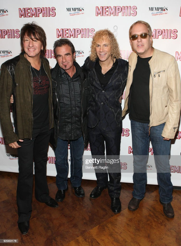 Richie Sambora, Tico Torres, David Bryan, and Hugh McDonald attend the opening night party for 'Memphis' on Broadway at Hard Rock Cafe, Times Square on October 19, 2009 in New York City.