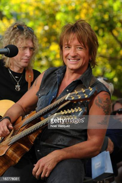 Richie Sambora visits 'Extra' at The Grove on September 25 2012 in Los Angeles California